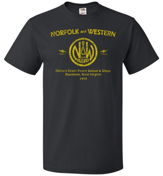 Norfolk & Western Railway T-Shirt - Electric (Adult/Youth) - Ringaboy LLC-
