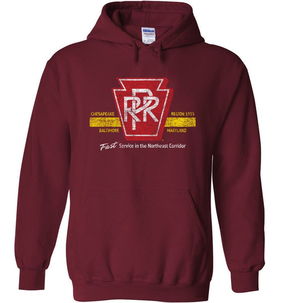Pennsylvania Railroad Heavyweight Hoodie - Stripe (Adult/Youth) - Ringaboy LLC-