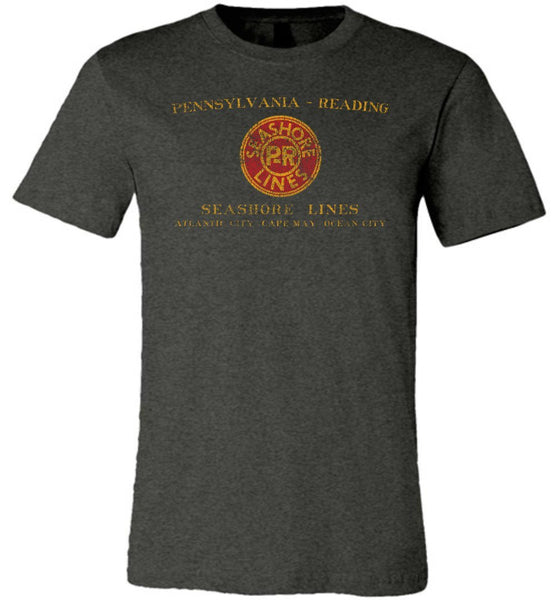 Pennsylvania Reading Seashore Lines Railroad Premium T-Shirt - Herald Heather (Adult Crew) - Ringaboy-