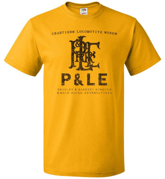 Pittsburgh & Lake Erie Railroad T-Shirt - McKees Rocks (Adult/Youth) - Ringaboy LLC-
