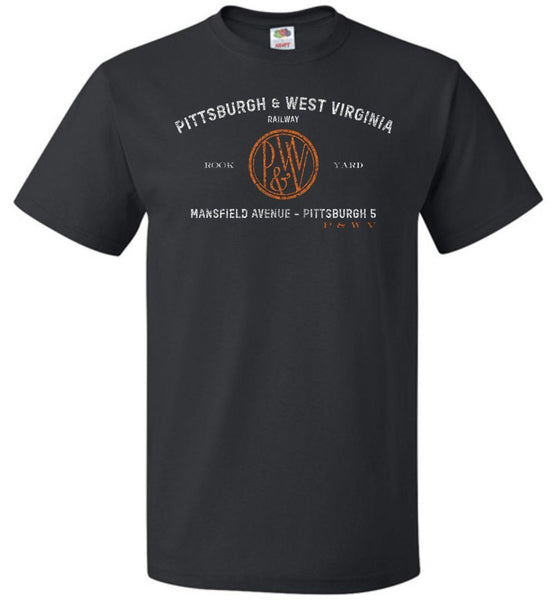 Pittsburgh & West Virginia Railway T-Shirt - Black (Adult/Youth) - Ringaboy LLC-