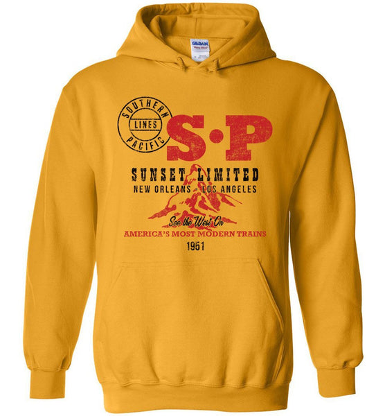 Southern Pacific Heavyweight Hoodie - Sunset Limited (Adult/Youth) - Ringaboy LLC-