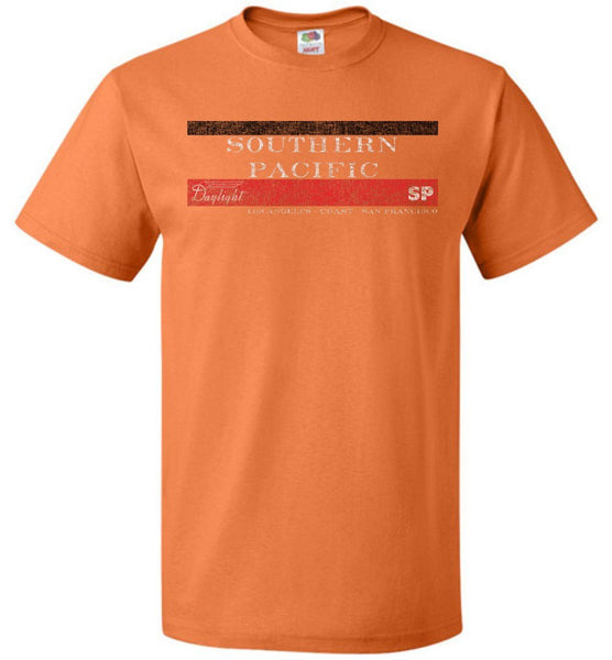 Southern Pacific Railroad T-Shirt - Daylight Orange (Adult/Youth) - Ringaboy LLC-