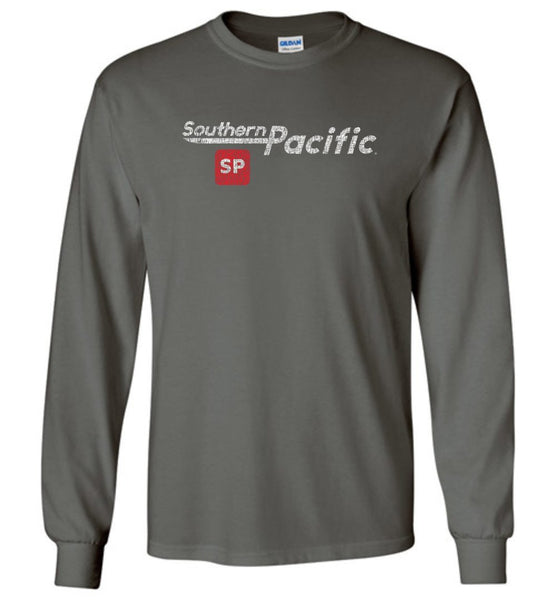 Southern Pacific Standard Long Sleeve T-Shirt - Speed Lettering (Adult/Youth) - Ringaboy LLC-