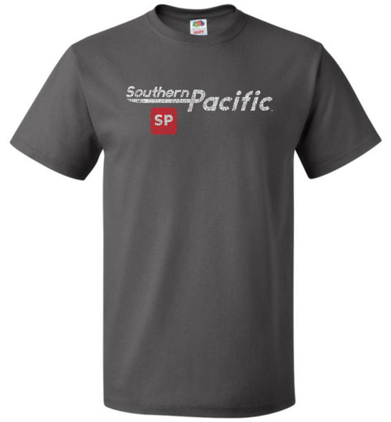 Southern Pacific Standard Railroad T-Shirt - Speed Lettering (Adult/Youth) - Ringaboy LLC-