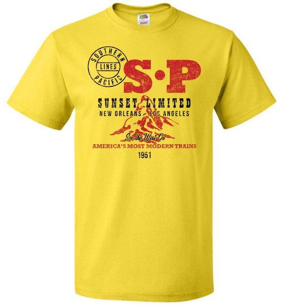 Southern Pacific Standard Railroad T-Shirt - Sunset Limited (Adult/Youth) - Ringaboy LLC-