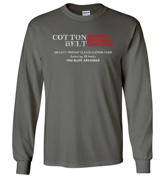 St. Louis Southwestern Railway (Cotton Belt) Long Sleeve T-Shirt - Lettering (Adult/Youth) - Ringaboy LLC-