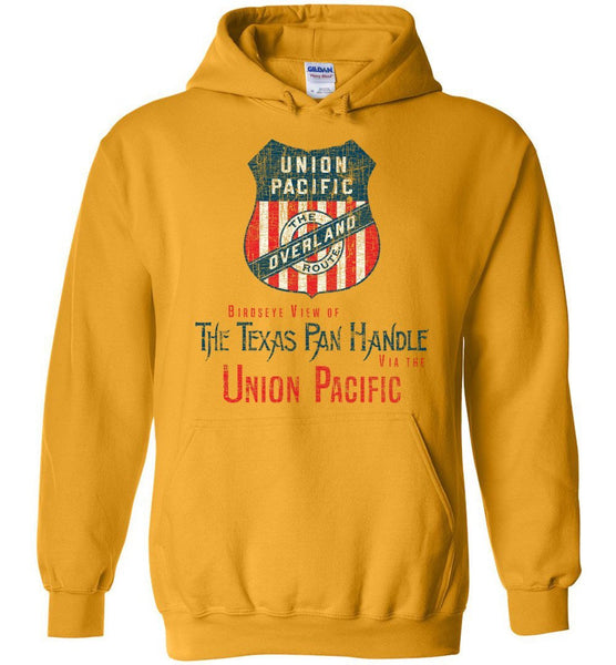 Union Pacific Railroad Heavyweight Hoodie - Double Line Shield (Adult/Youth) - Ringaboy LLC-