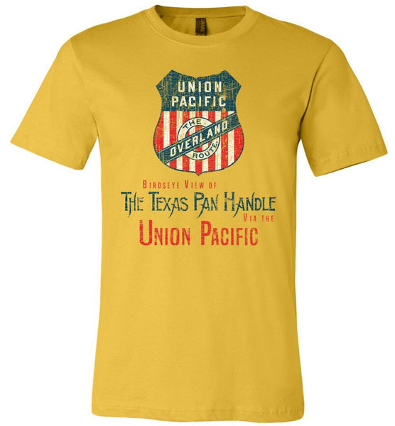 Union Pacific Railroad Premium T-Shirt - Double Line Shield (Adult Crew) - Ringaboy-