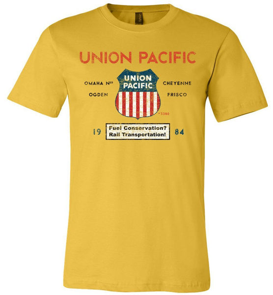 Union Pacific Railroad Premium T-Shirt - Jeffers Streamline (Adult Crew) - Ringaboy-