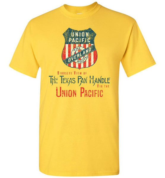 Union Pacific Railroad T-Shirt - Double Line Shield (Adult/Youth) - Ringaboy LLC-
