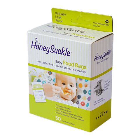 Honeysuckle® Baby Food Bags/ Small Milk & Pump Bags - Nature's Treat