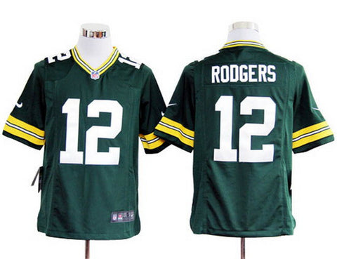 NFL Jersey's Youth Green Bay Packers Aaron Rodgers Nike Green Game Jersey