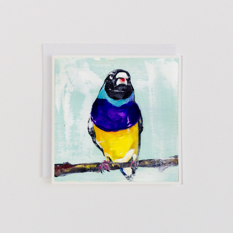 Hello finch 3 Greeting Card
