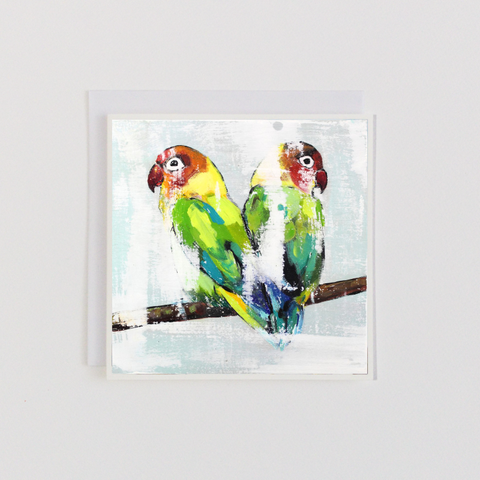 Love Birds Tails Greeting Card