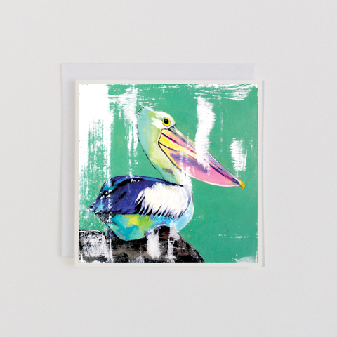 Perched Pelican Greeting Card