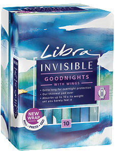 Invisible Goodnights Pads with Wings