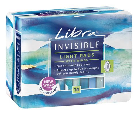 Libra Invisible Light Pads With Wings 14x6 Case
