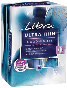 Ultra Thin Goodnights Pads with Wings