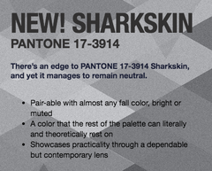 Sharkskin Pantone 2016 Fall color