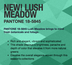 Lush Meadow Pantone 2016 Fall Fashion Colors