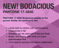 Bodacious Pantone 2016 Fall Fashion Colors