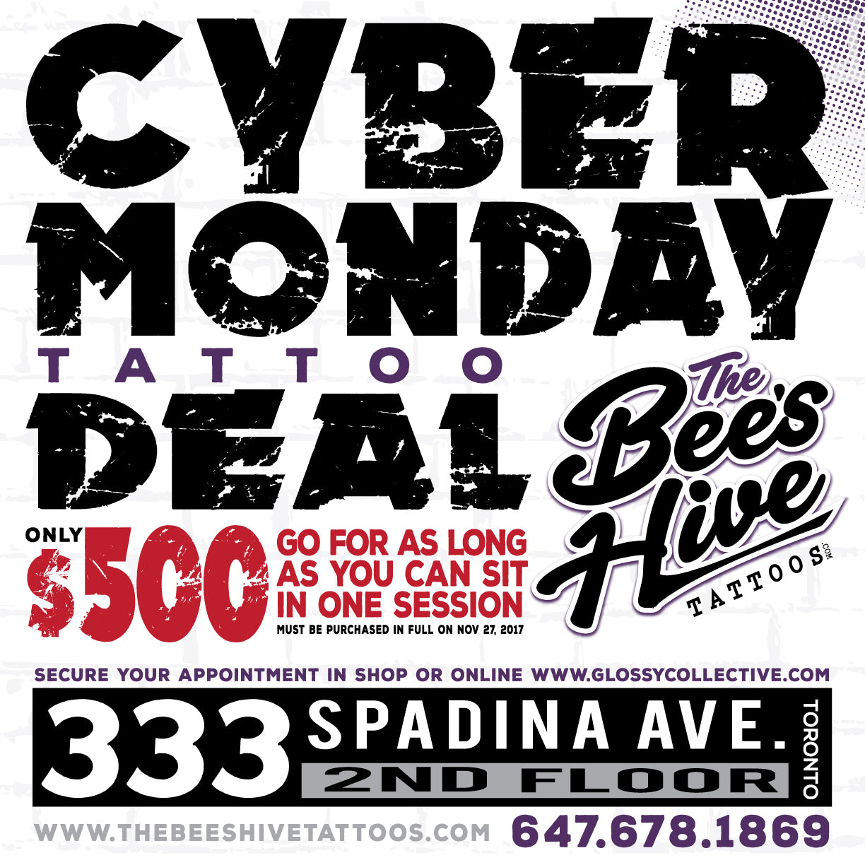 The Bee's Hive Tattoos - Black Friday + Cyber Monday DEAL!!