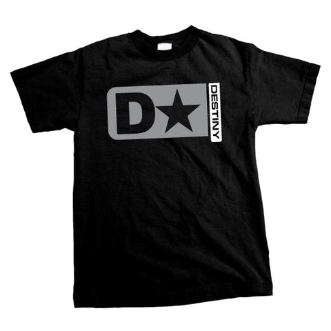 DESTINY - Stacked Logo T-shirt - Black