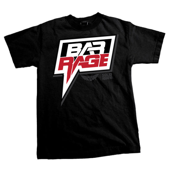 "Bar Rage (UK) - ""Classic Logo"" T-shirt - Black"
