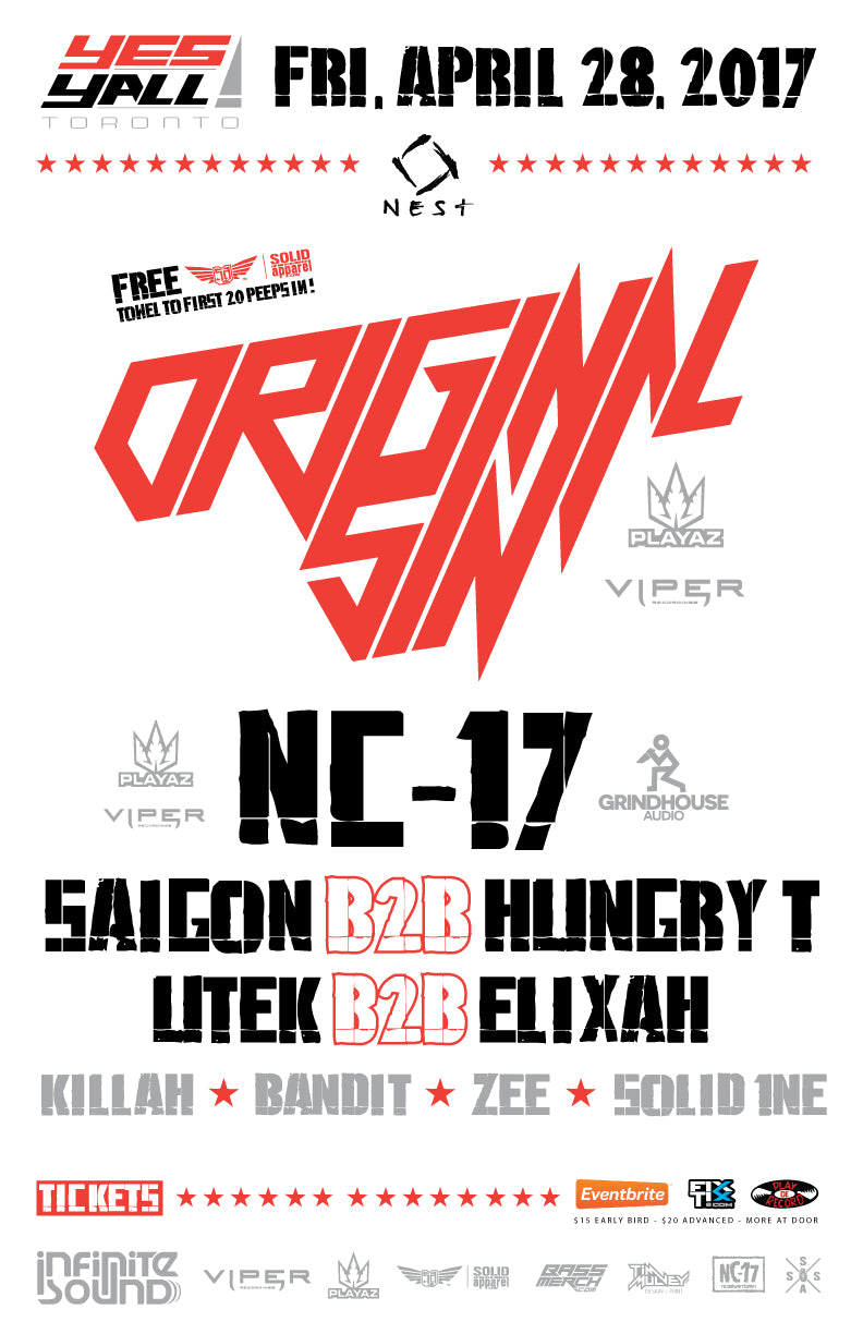 """Yes Yall"" Featuring Original Sin (UK) // Presented by Infinite Sound - eTicket"