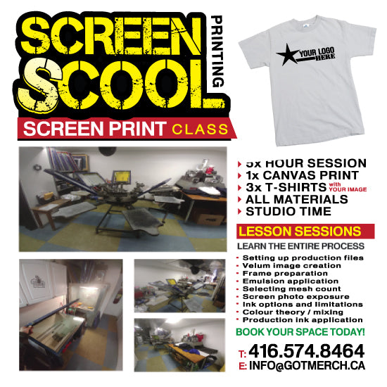 Lesson Session - 3 HOUR > Screen Printing