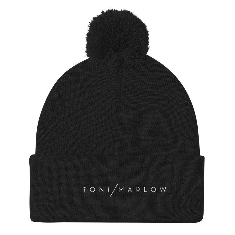 Toni Marlow Clothing Apparel Toni Marlow Pom Pom Knit Hat Black