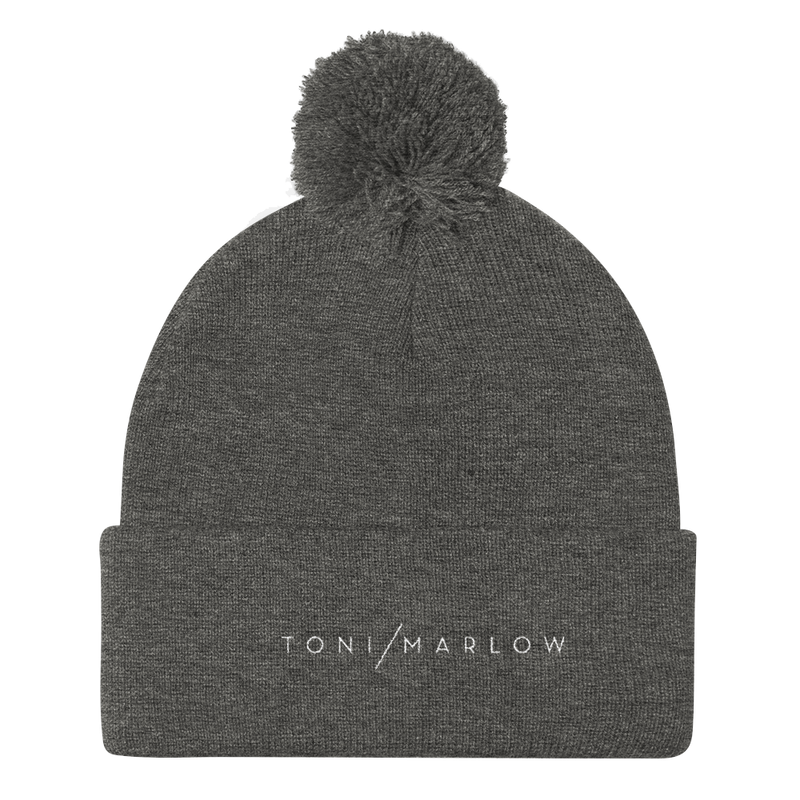 Toni Marlow Clothing Apparel Toni Marlow Pom Pom Knit Hat Dark Heather Grey