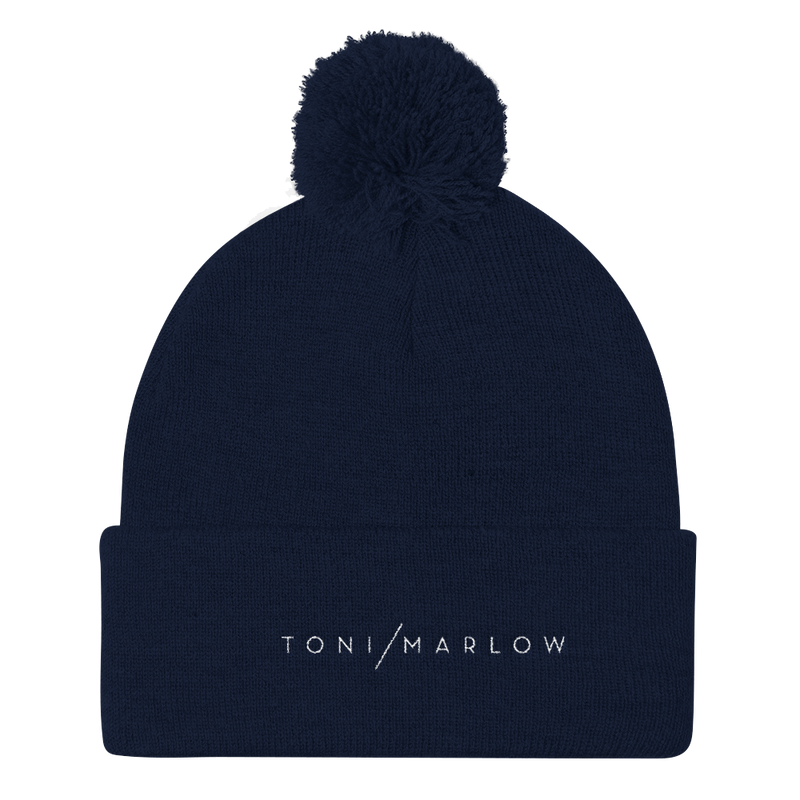 Toni Marlow Clothing Apparel Toni Marlow Pom Pom Knit Hat Navy