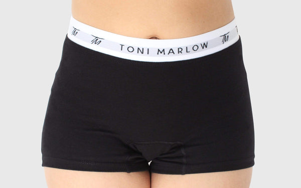 Toni Marlow Clothing Underwear Boy Shorts - Cotton Black / XS