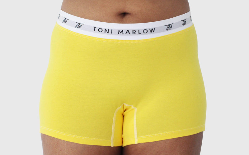 Toni Marlow Clothing - Underwear - Cotton - Boy Shorts - Yellow