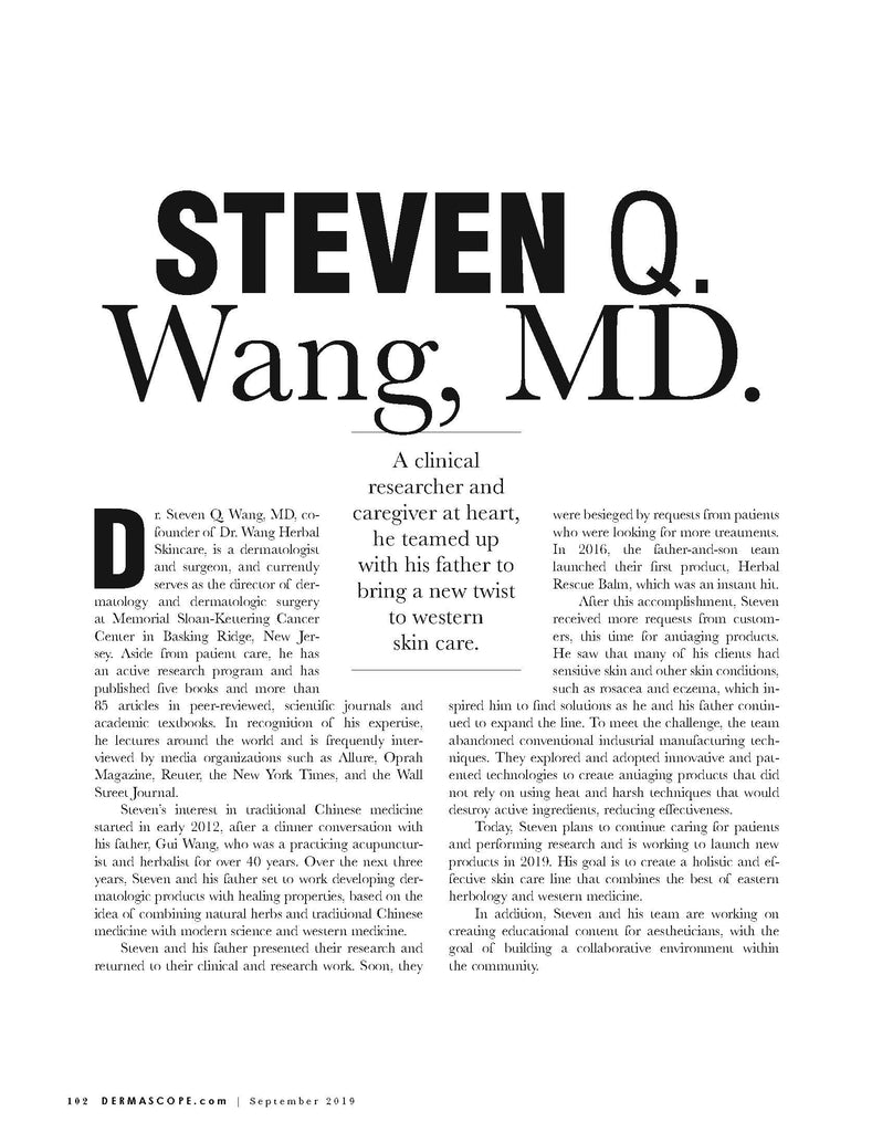 Dr Wang Dermascope A-list 2019