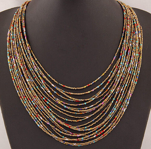 Fashion Bohemian Ethnic Style Multilayer Colorful Beads Necklace - Nonpareil Jewelry  - 1