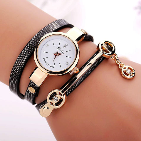 Summer Style Leather Bracelet Wristwatch For Women - Nonpareil Jewelry  - 1