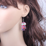 Cute Printed Drop Earrings - Nonpareil Jewelry  - 6