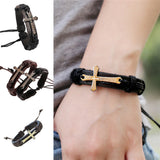 Cross Charm Bracelet 100% Genuine Leather Bracelets - Nonpareil Jewelry  - 9