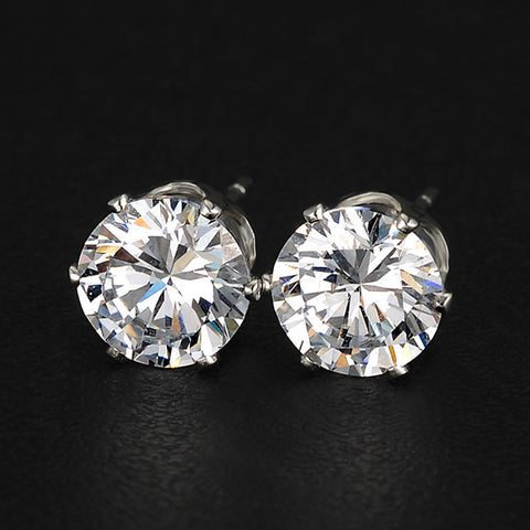 Free Crystal Zircon Stud Earrings - Nonpareil Jewelry  - 1