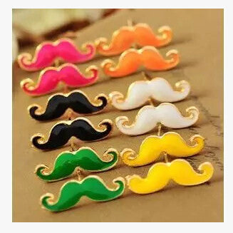 FREE Vintage Moustache Stud Earrings Small Jewelry - Nonpareil Jewelry  - 1