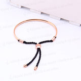 Fiji Friendship Charm Bracelet Rose Gold With Black Cord - Nonpareil Jewelry  - 2