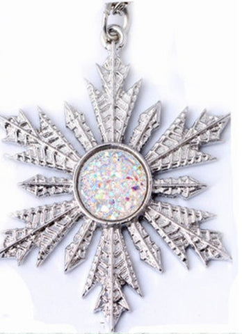Frozen Once Upon A Time Show Snowflake Elsa Pendant Necklace New Fashion Movie Jewelry - Nonpareil Jewelry  - 1