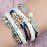 Womens Vintage Anchors Harry Potter Leather Multilayer Bracelets - Nonpareil Jewelry  - 9