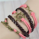 Womens Vintage Anchors Harry Potter Leather Multilayer Bracelets - Nonpareil Jewelry  - 13