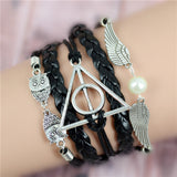 Womens Vintage Anchors Harry Potter Leather Multilayer Bracelets - Nonpareil Jewelry  - 6