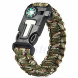 5 in 1 Paracord Survival Bracelet Including; Rope, Compass, Flint, Fire Starter Scraper, Whistle - Nonpareil Jewelry  - 11