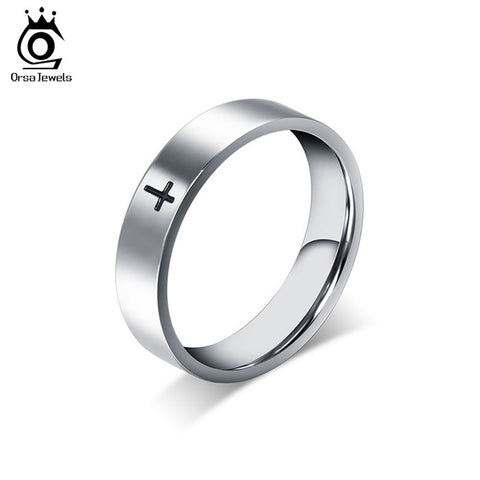 Stylish Simple Design Titanium Steel Cross Ring - Nonpareil Jewelry  - 1